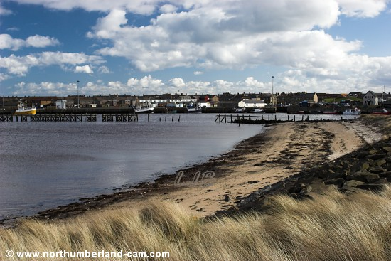 Small beach on the north side of the River Coquet.