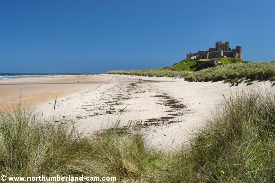 Bamburgh Beach and Castle.