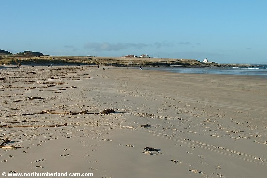 Bamburgh Beach in winter.