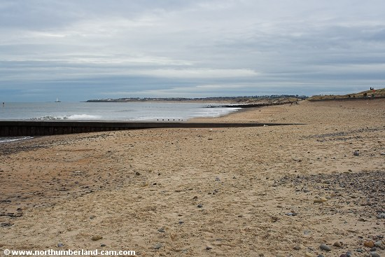 Blyth South Beach - deserted.