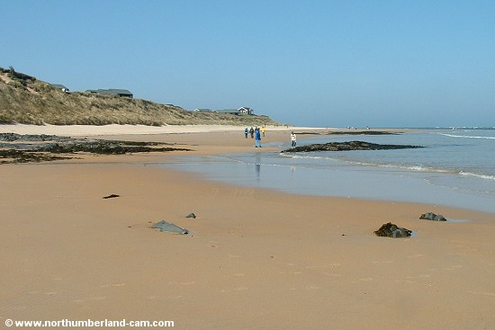 View north along the beach at Embleton Bay.
