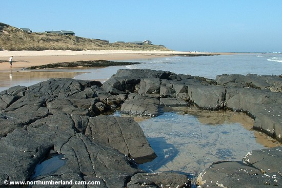 Rock pools at the north end of Embleton Bay.