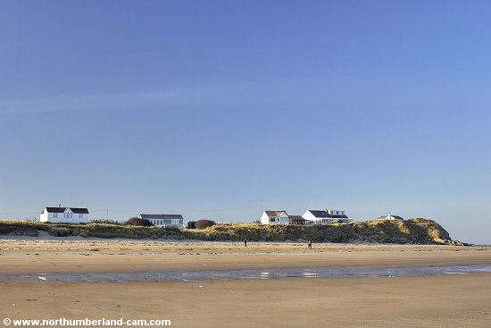 Homes overlooking the north end of the Beach at Low Hauxley.