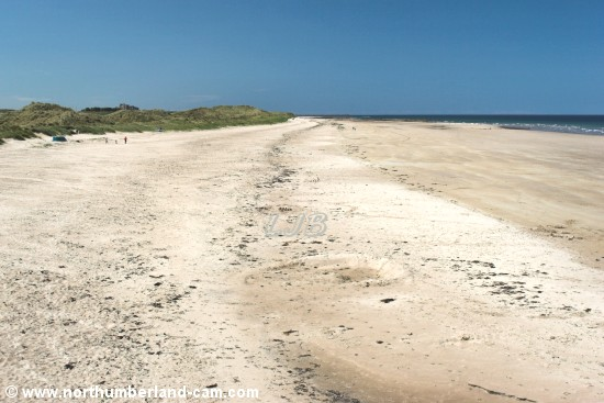 St. Aidans Dunes and the beach at Seahouses.